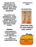 Linking Chain Math Center, featuring Pumpkins
