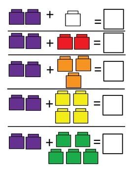 Linking Cube Addition Mats