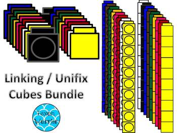 Linking Cube/Unifix Cubes Clipart