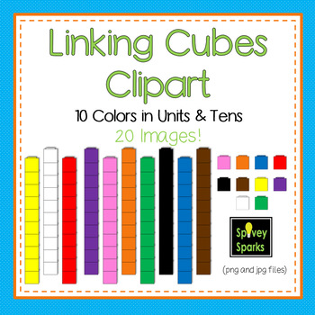 Linking Cubes Clip Art {Commercial Use}