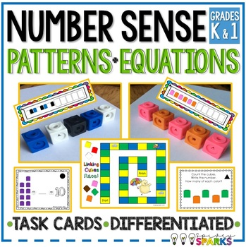 Linking Cubes Patterning & Task Cards {Differentiated}