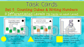 Linking Cubes Patterning  Math Task Cards