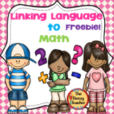 Linking Language to Math Freebie
