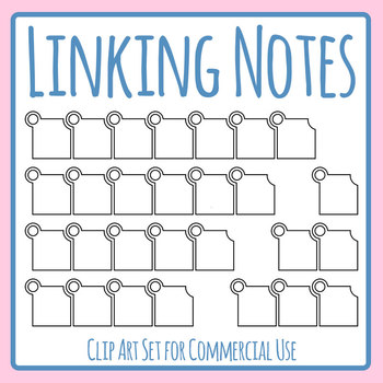 Linking Notes - Sequencing / Days fo the Week Cards Clip Art Set Commercial Use