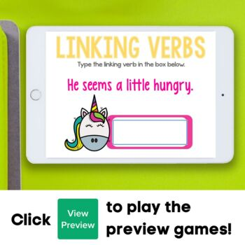 Linking Verb Boom Cards