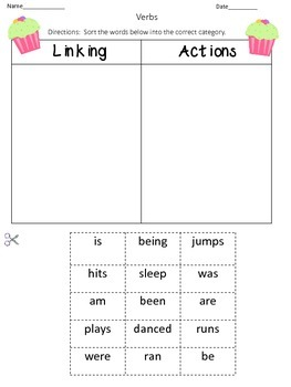 Linking Verb Cut and Paste