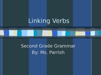 Linking Verb Powerpoint