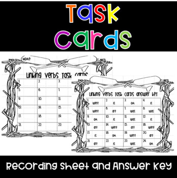 Linking Verb Task Cards