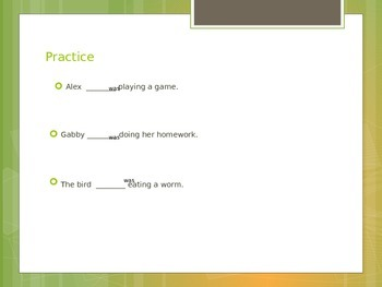 Linking Verb-was