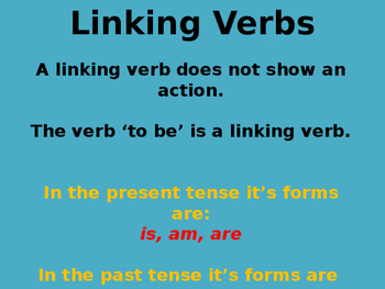 Linking Verbs 3