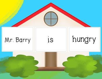 """Linking Verbs """"Build The House"""" Activity"""