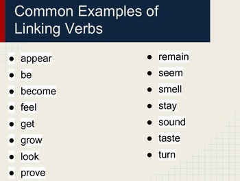 Linking Verbs Mini Lesson