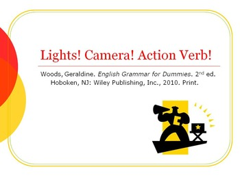 Action Verbs Powerpoint, Guided Notes and Assignments