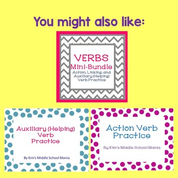 Linking Verbs Practice and Review