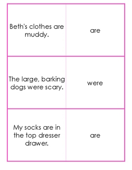 Linking Verbs Game - Quiz and Trade {Differentiated}