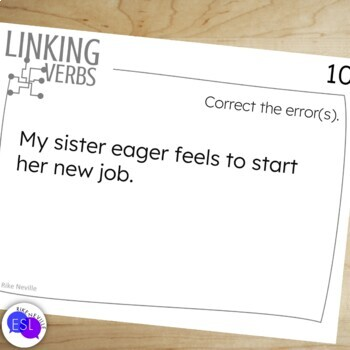 Linking Verbs:  Task Cards