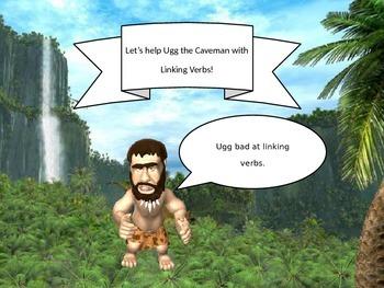 """Linking Verbs - """"Ugg the Caveman"""""""