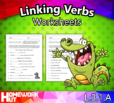 Distance Learning - Linking Verbs Worksheets