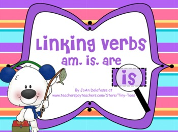 Linking Verbs am, is, are Winter/Polar Bear Theme for MIMIO - Common Core