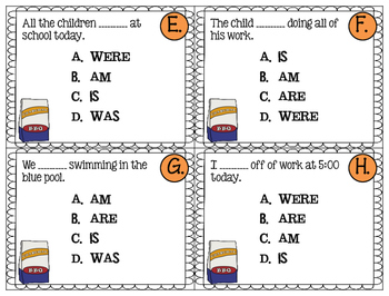 Helping Verbs:is, am, are, were, was