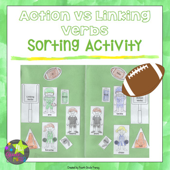 Linking Verbs vs Action Verbs Activity