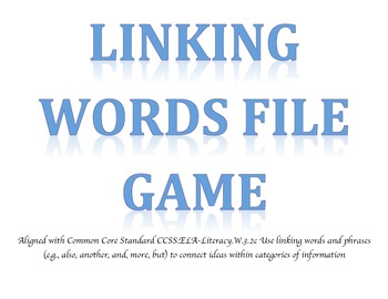 Linking Words File Game