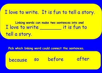 Linking Words Flipchart
