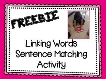 Linking Words Sentence Matching Activity - Freebie