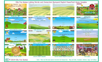 Linking Words and Connectors Barnyard English PowerPoint Game