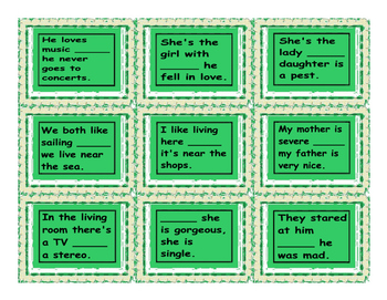 Linking Words and Connectors Cards