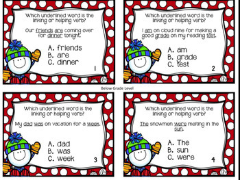 Linking and Helping Verb Task Cards