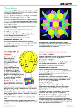 Linking visual arts to the Australian Mathematics Curriculum