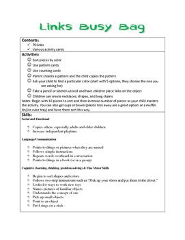 Links Busy Bag