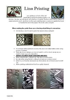 Lino Printing Inctructions