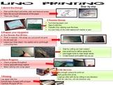 Lino cut print