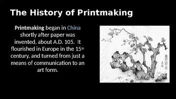 Linocut printmaking project