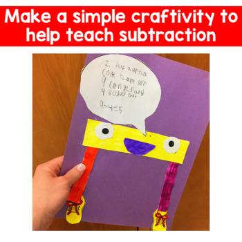 Subtraction Craftivity ~ Linus the Minus