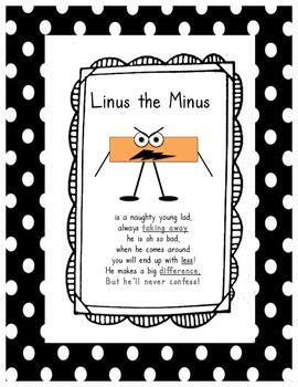 Linus the Minus and Gus the Plus Activities