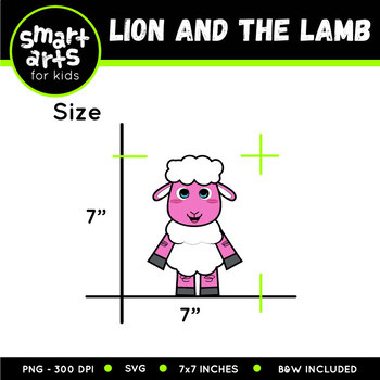 Lion And The Lamb Clip Art