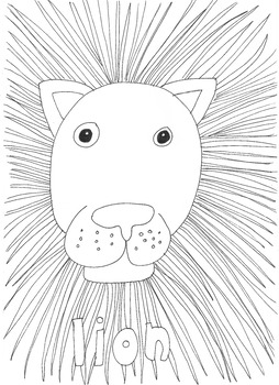 Lion: Animals and Pets: Colouring Page