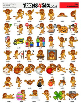 Lion Clipart Set