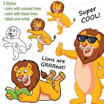 Lion Clip Art | Lion with Signs