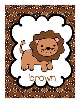 Lion Color Posters