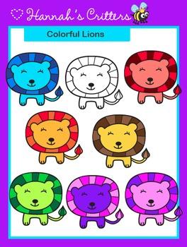 Lion {Colorful Safari Critters}