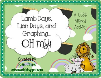 Lion Days, Lamb Days, and Graphing... OH MY! {Common Core Aligned}
