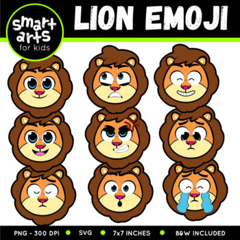 Lion Emoji Clip Art