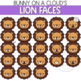 Lion Faces Clipart by Bunny On A Cloud