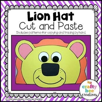 Lion Hat Cut and Paste