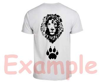 Lion Head whit Bandana Silhouette SVG clipart wild animal african king zoo 850S