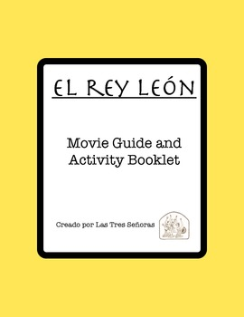 The Lion King Activity Packet and Movie Guide in Spanish/El rey león